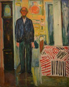 「自画像、時計とベッドの間」(1940-43年)