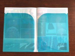 東山魁夷展、ダブルクリアファイル裏面。 (内側にポケット2つあり)
