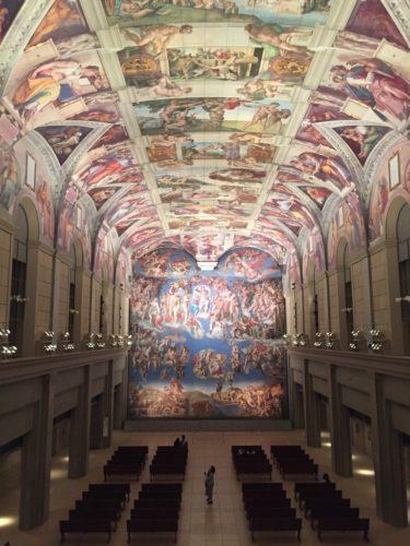 米津玄師さんが紅白でパフォーマンスを行った、大塚国際美術館 システィーナ・ホール(筆者撮影)