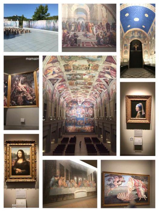 大塚国際美術館 モデルコースで見られる作品の一例。