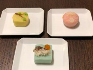 山種美術館カフェの、日本画をモチーフにした限定和菓子。