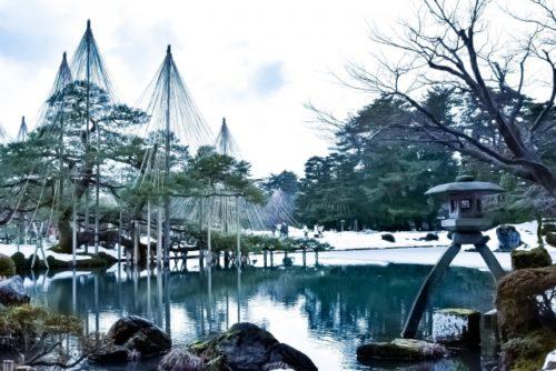 冬の金沢、兼六園。