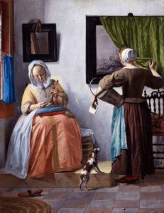 ハブリエル・メツー作  「手紙を読む女」 (1664-66年頃) アイルランド・ナショナル・ギャラリー所蔵
