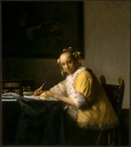 フェルメール作 「手紙を書く女」 (1665年頃) ワシントン・ナショナル・ギャラリー所蔵