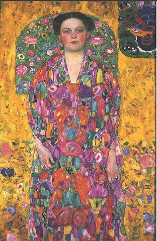 「オイゲニア・プリマヴェージの肖像」 (1913/14年、クリムト作) 豊田市美術館所蔵