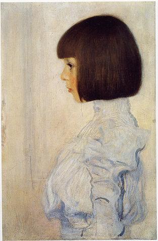 「ヘレーネ・クリムトの肖像」 (1898年、クリムト作) ベルン美術館(個人寄託)