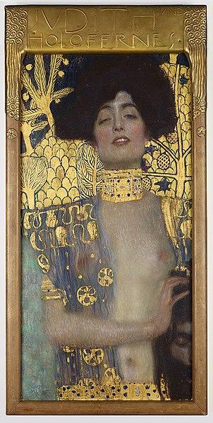 「ユディトⅠ」(1901年、クリムト作) ベルヴェデーレ宮オーストリア絵画館