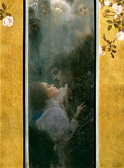 「『愛(アレゴリー:新連作)』のための原画」 (グスタフ・クリムト、1895年) ウィーンミュージアム蔵 ※画像はwikimedia commonsより