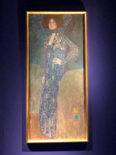 「エミーリエ・フレーゲの肖像」 (1902年、グスタフ・クリムト) ウィーンミュージアム蔵