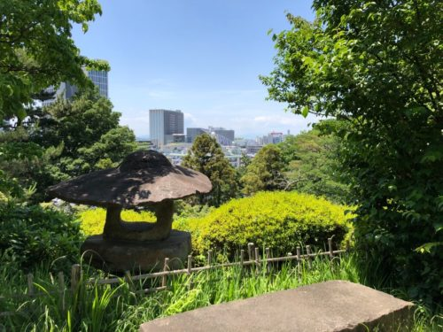 五島美術館 庭園からの眺望。