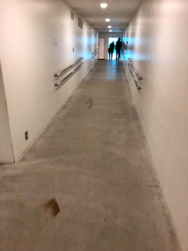 金沢21世紀美術館 スイミング・プール地下部への道。