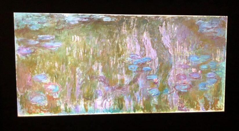 クロード・モネ「睡蓮、柳の反映」(1916年)※AIによるデジタル復元