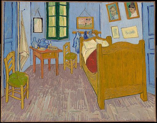 ゴッホ「アルルの寝室」(1889年、オルセー美術館)