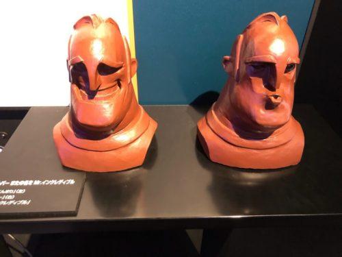 Mr.インクレディブルの頭部模型。