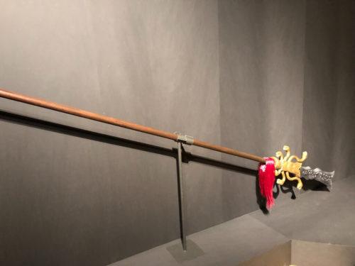 張飛の蛇矛(再現展示)