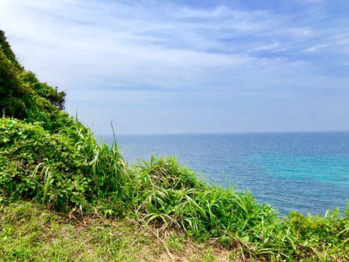 沖ノ島の方角を見た時の眺望。海が美しい。
