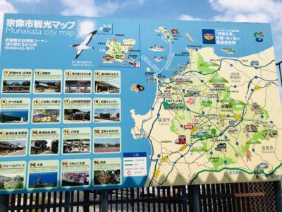 JR東郷駅に設置してあった観光マップ。