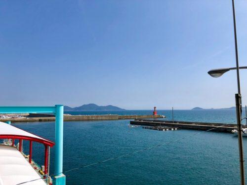 神湊渡船ターミナル、デッキからの眺望。