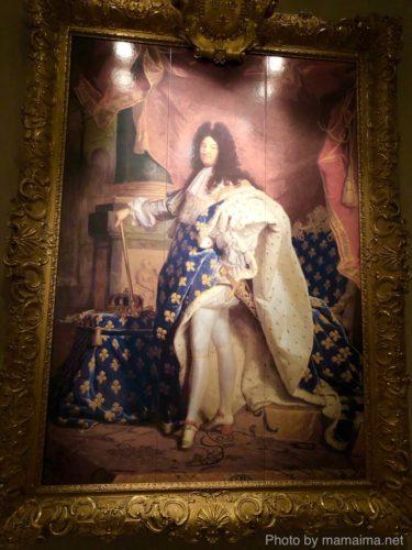 リゴー作「ルイ14世の肖像」(大塚国際美術館にて筆者が撮影)