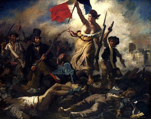 ドラクロワ作「民衆を導く自由の女神」(wikimedia commonsより)