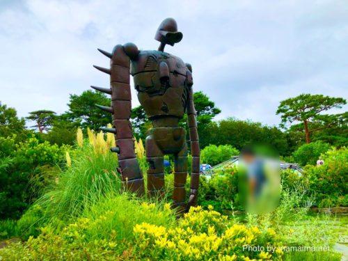 「天空の城 ラピュタ」のロボット兵と記念撮影!