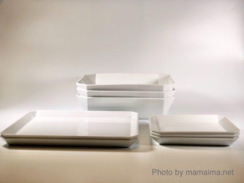 1616 / Arita Japan TYシリーズ(ホワイト) Square Plate とSquare Bowl