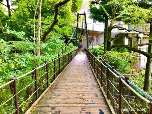 彫刻の森美術館の吊り橋